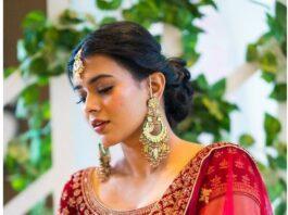 hebah patel in Mebaz bridal lehenga-2