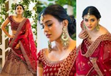 hebah patel in Mebaz bridal lehenga-featured