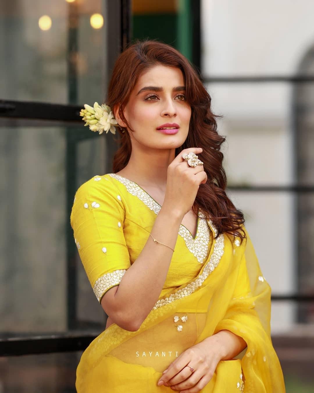 jasmine yellow blouse-Sayanti Ghosh