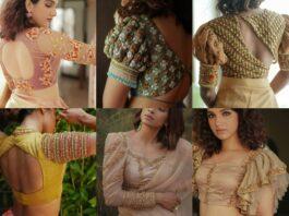 latest designer bridal saree blouses 2021