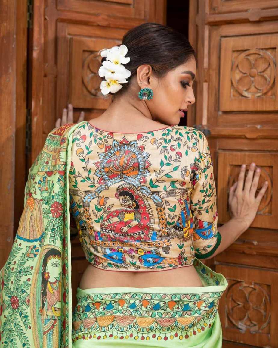 madhubani ram sita vivah blouse-Sayanti Ghosh-1