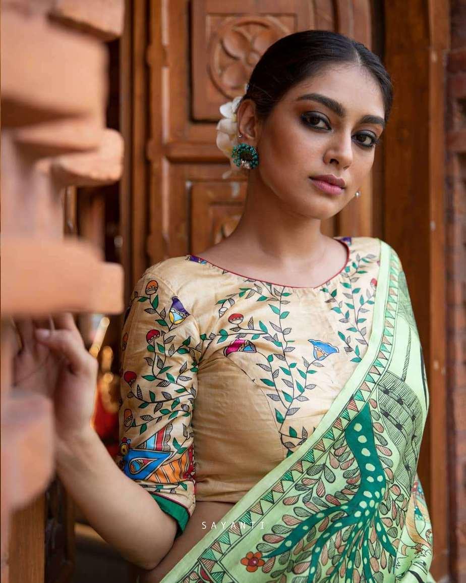madhubani ram sita vivah blouse-Sayanti Ghosh