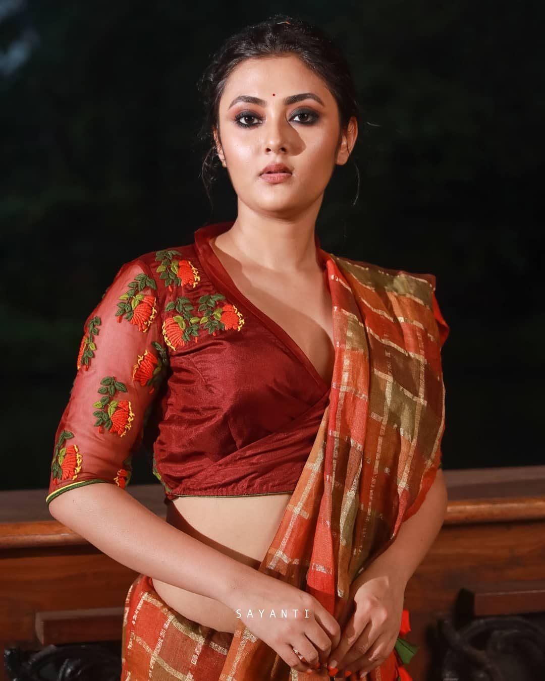 orange vine trumpet blouse-Sayanti Ghosh-1