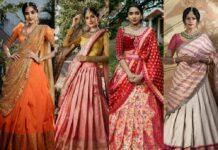 Bridal half saree set collection-studio149