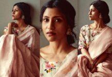 Konkona Sen Sharma in anavila saree for ajeeb dastans promotions-FEATURED