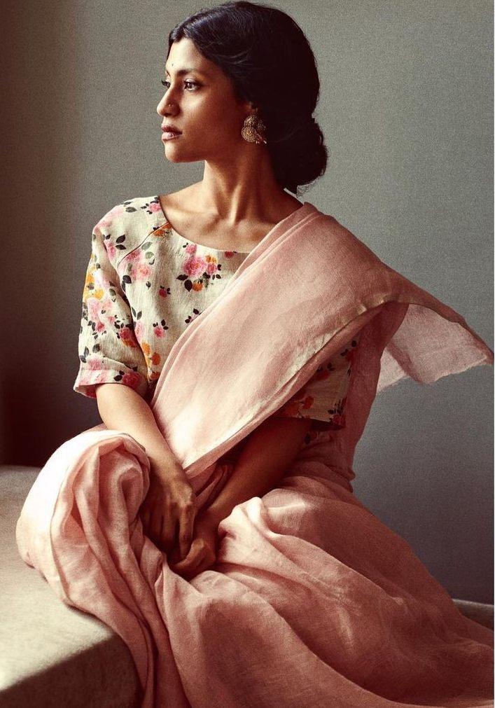 Konkona Sen Sharma in anavila saree for ajeeb dastans promotions