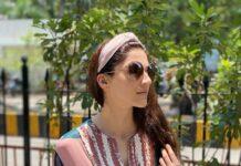 Mehreen Pirzada in a printed maxi dress by Nirmooha-1