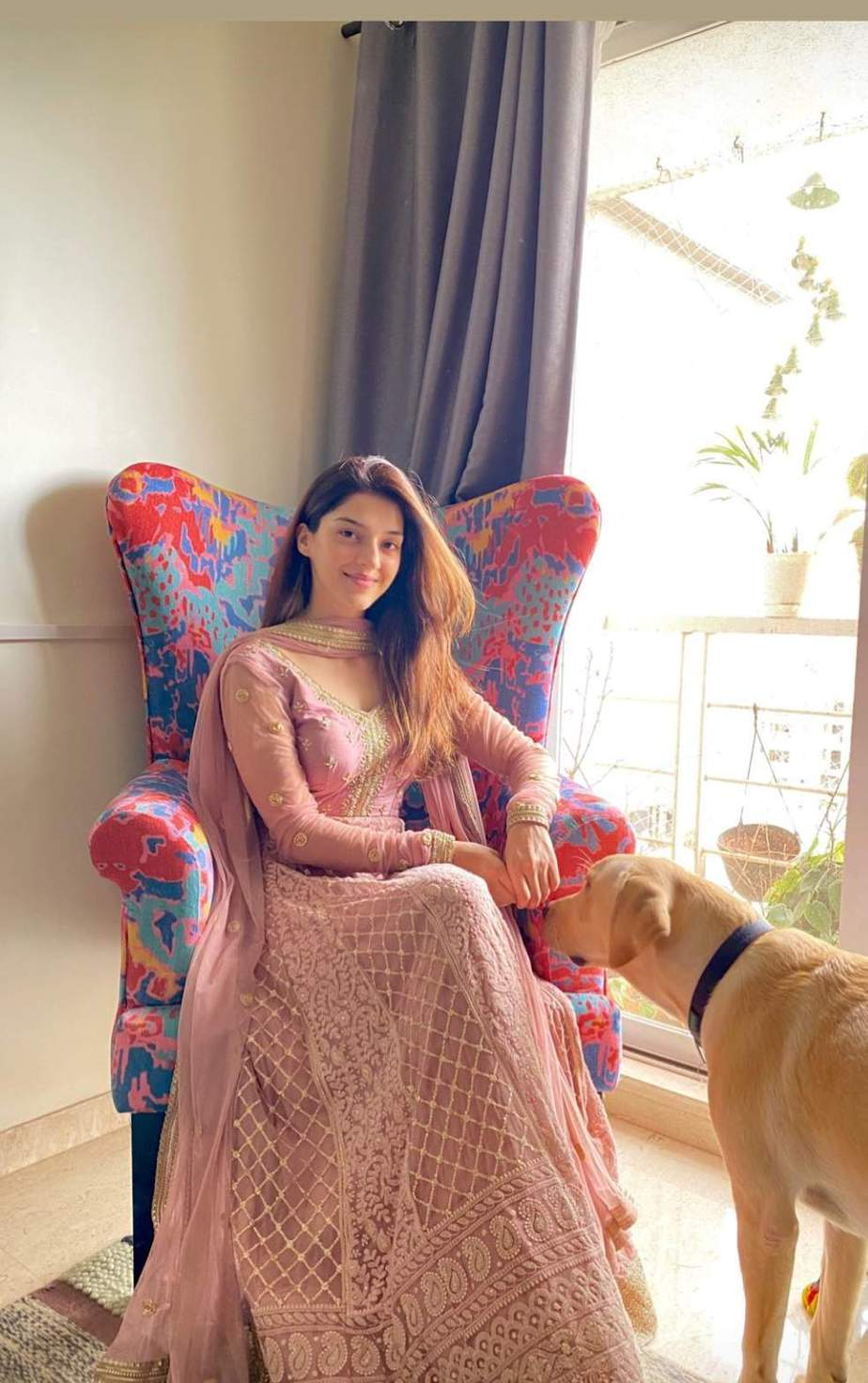 Mehreen pirzada in bhumika grover anarkali for an ad shoot-2