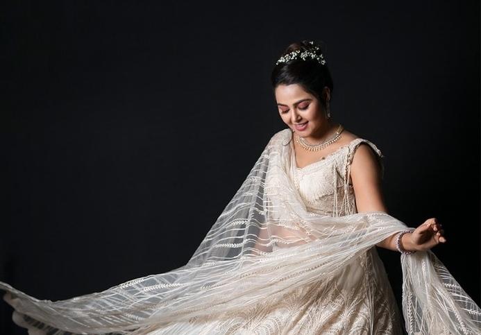 Monal Gajjar in white lehnga by Abhishek studio-1