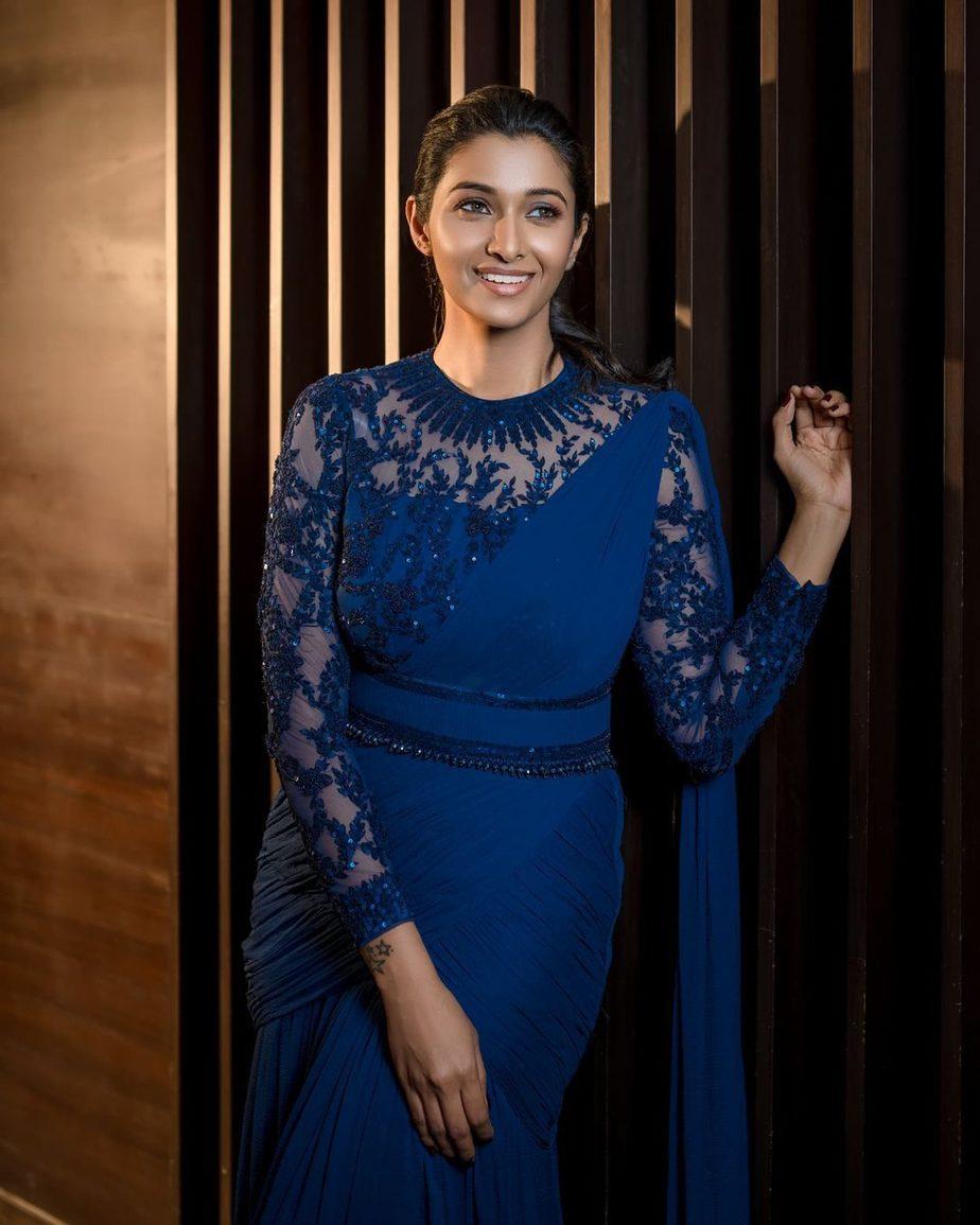 Priya bhavani shankar in sapphire gown by ashwin thiyagarajan-2