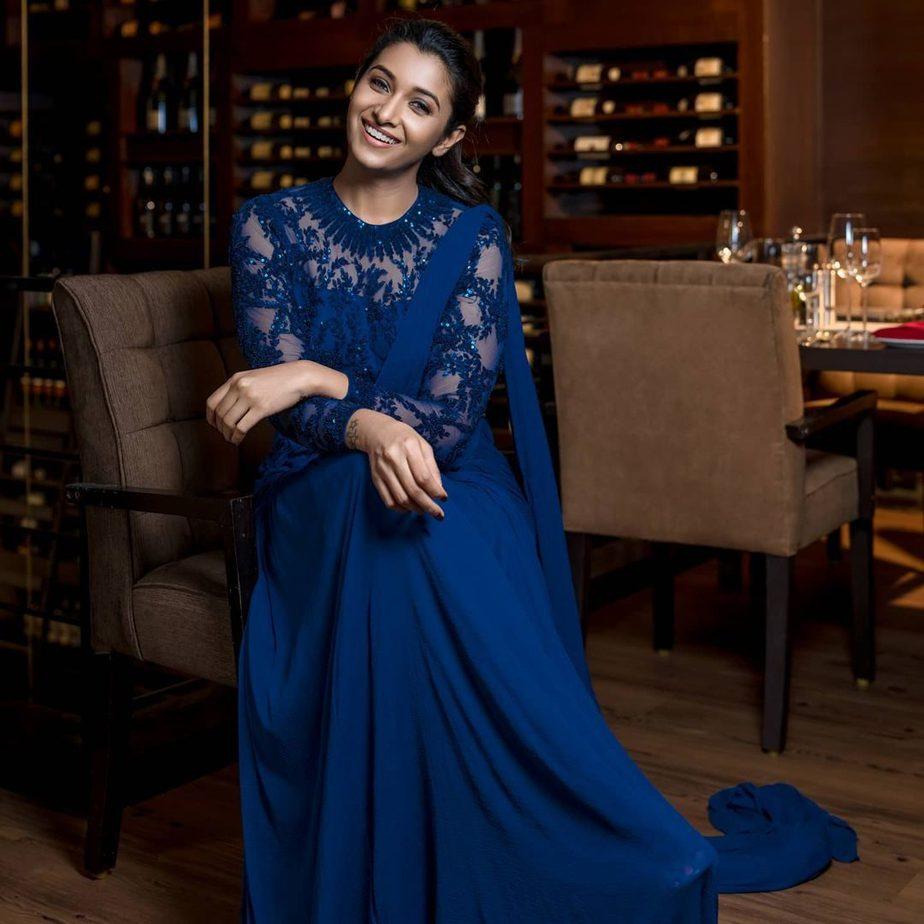 Priya bhavani shankar in sapphire gown by ashwin thiyagarajan-3