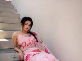 Priya mani raj in picchika saree for dhee kings-2