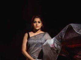 Rashmi Gautam in the linen store saree for dhee kings-2