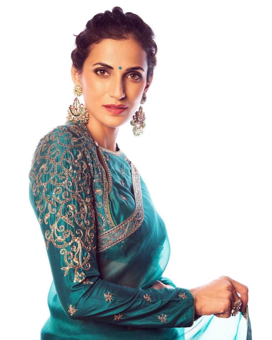 Shilpa Reddy in Shilpa reddy label saree-3