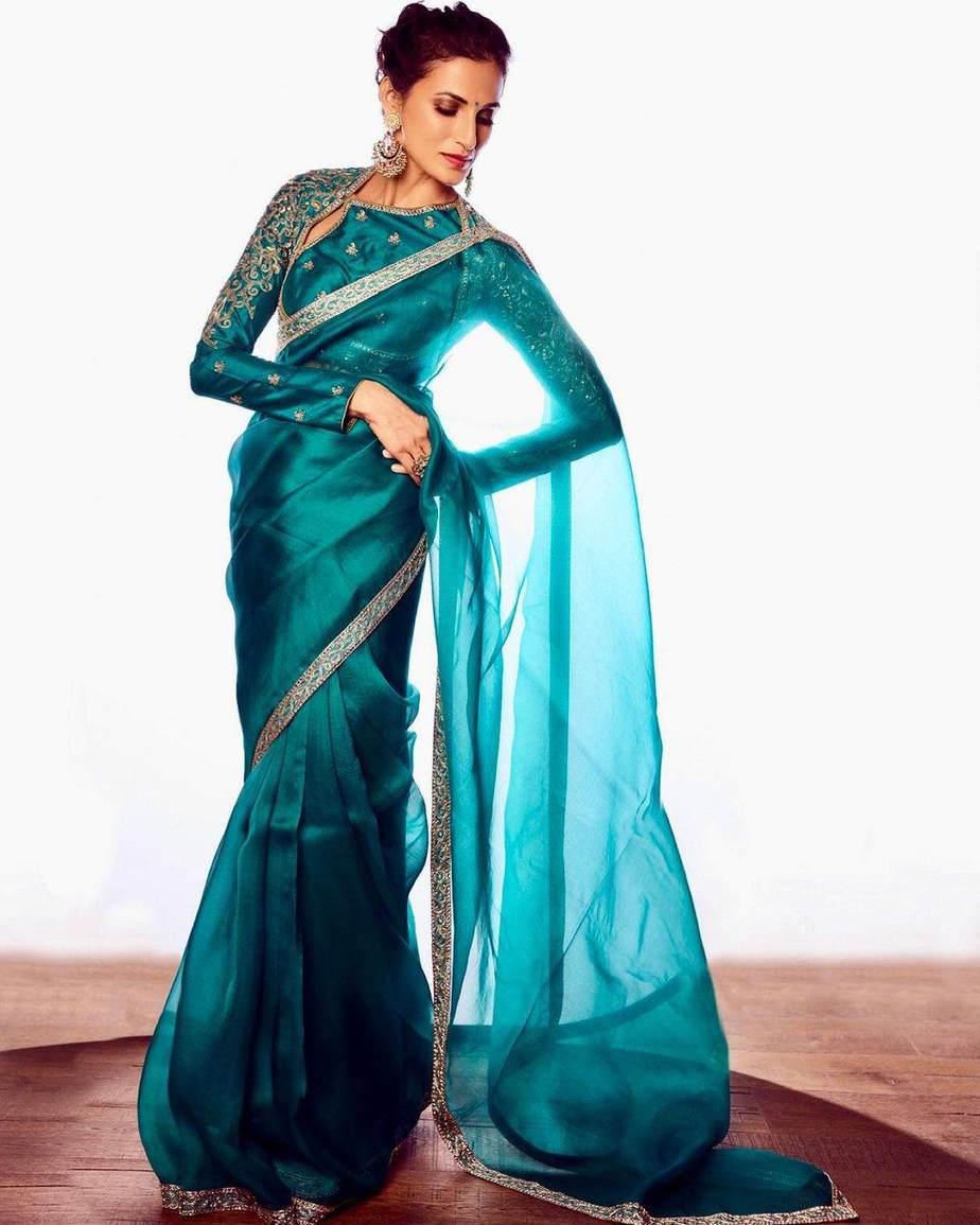 Shilpa Reddy in Shilpa reddy label saree-4