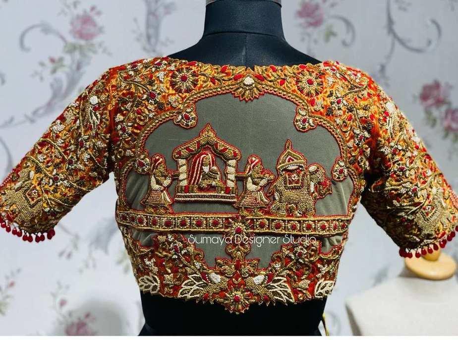 Sumaya Designer wedding blouses-11