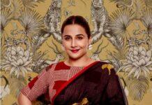 Vidya Balan in ghurni saree for sherni promotions-1