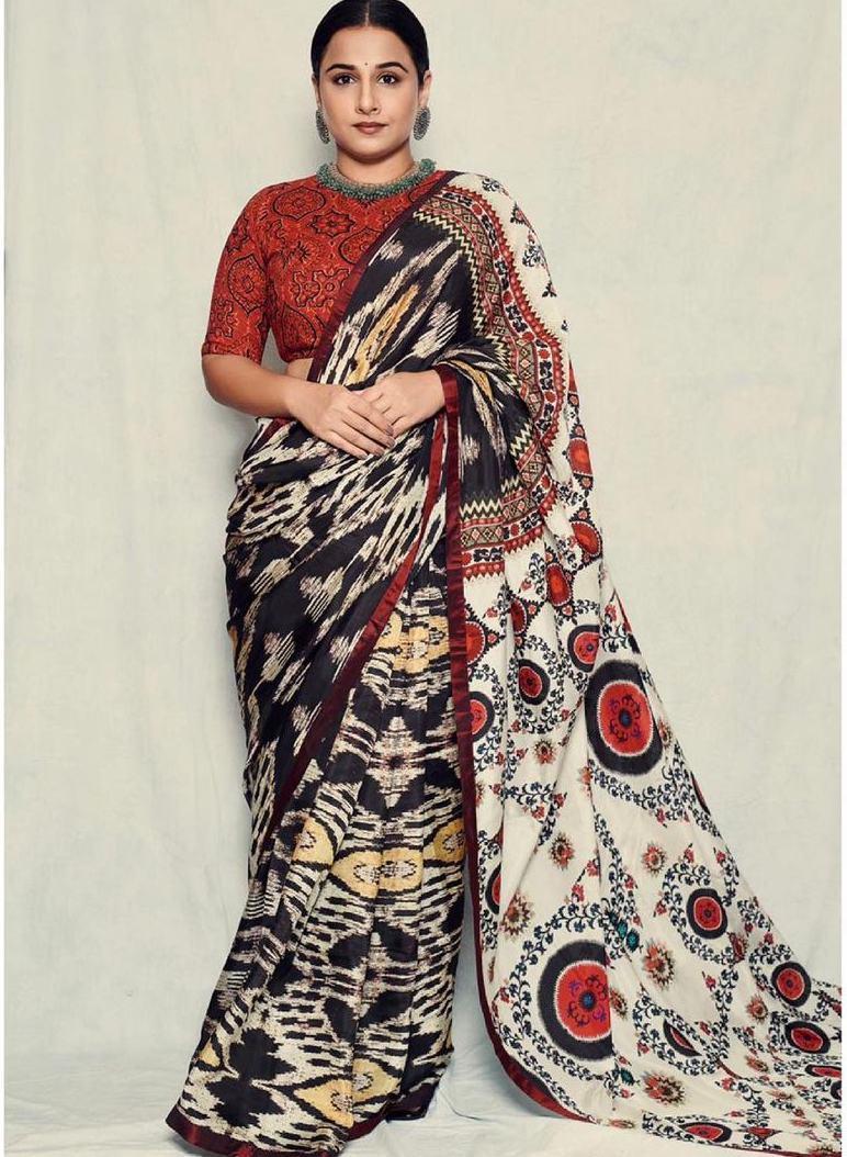 Vidya Balan in rajdeep ranawat saree for sherni
