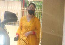Yami gautam in yellow banarasi set-1