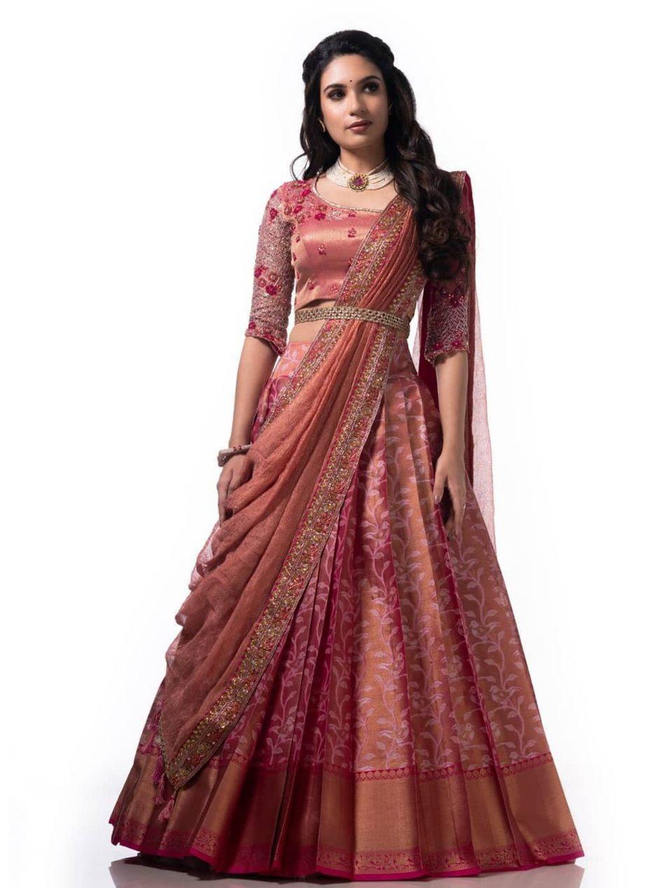 powder pink half saree studio 149-1