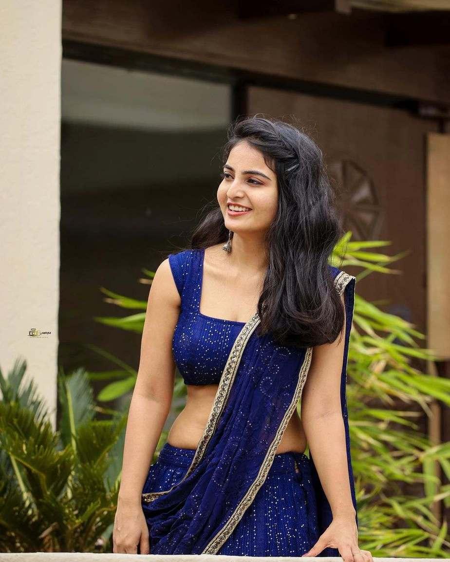 Ananya Nagalla in blue lehnga by madhavi art studio-2