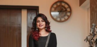 Anusree Nair in black kurta set by Belleficial couture-1