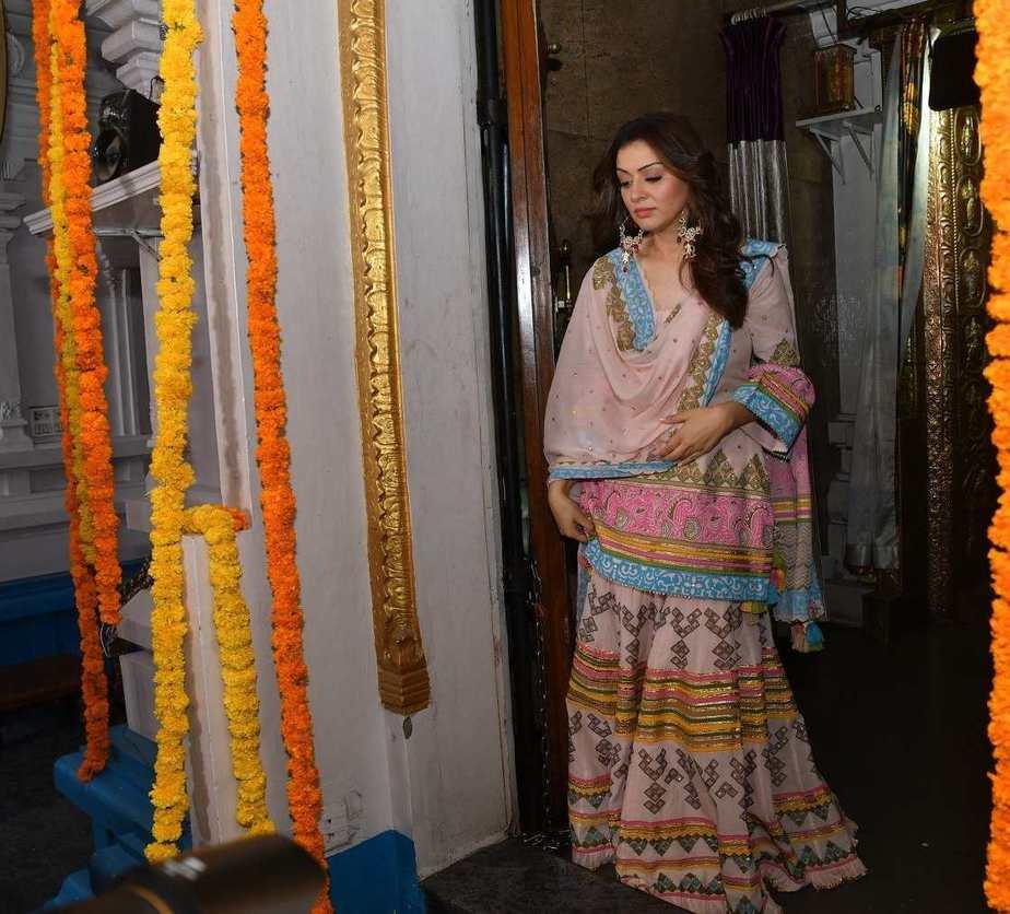 Hansika Motwani in a pink phulkari set by Sukriti and aakriti for my name is shruti puja1.2