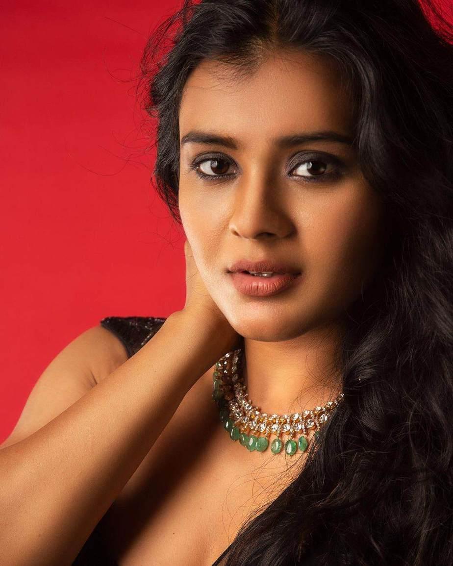 Hebah Patel in saree pant suit by Shashank Chelmilla-3