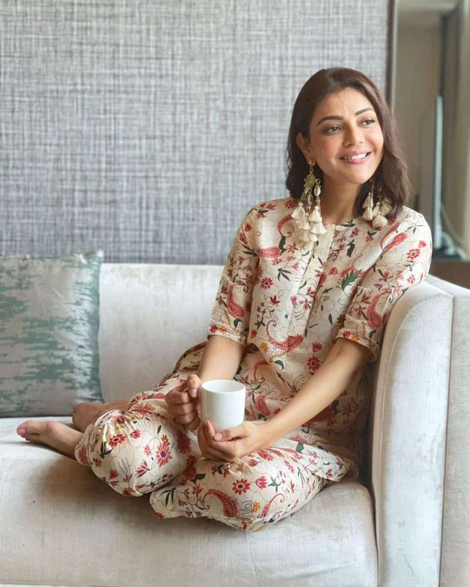 Kajal Aggarwal in linen coords by Label anushree-1