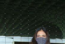 Malavika Mohanan at mumbai airport in shopverb dress