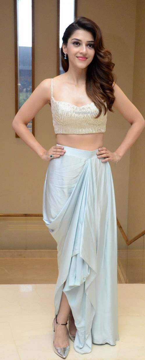 Mehreen Pirzada in a Indo western outfit at Manchi Roju chaie character intro event