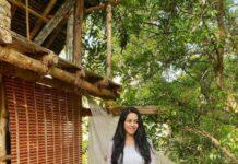 Mirnalini Ravi in a sharara set by elegant fashion way-1