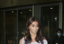 Pooja Hegde in Saltz and Sand coord set at airport-1