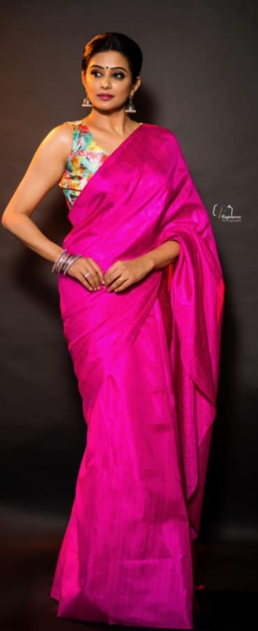 Priya Mani in pink saree by dithya sai fashions for dhee kings-2