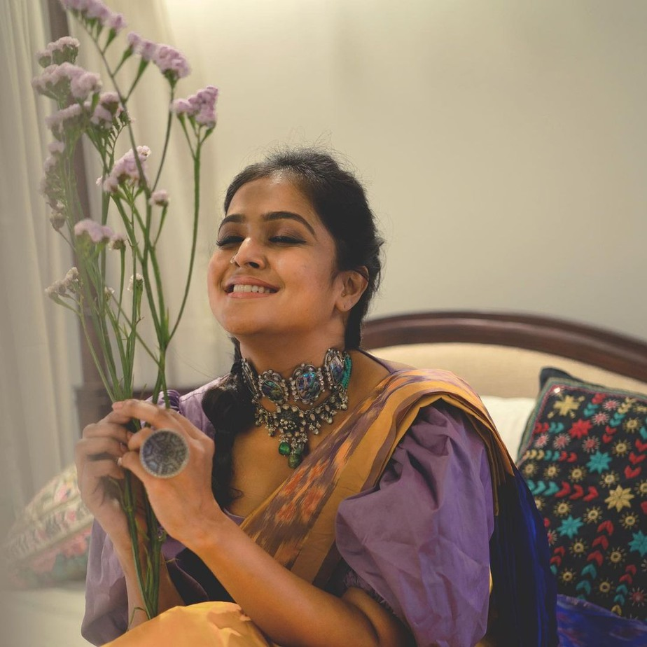 Ramya Nambessan in Devraagh saree -2