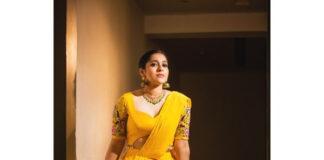 Rashmi Gautam in yellow lehenga by starry dreams for aashadamlo athakodallo