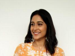 Regina cassandra in mishru dhoti set for anya tutorial press meet-1