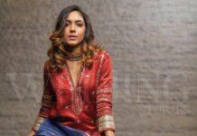 Ritu varma in devnaagri marron kurta set for wedding stories magazine