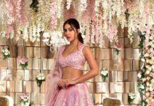 Sara Ali Khan in pink Manish Malhotra lehnga-1