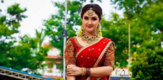 Sridevi vijaykumar in kowshiki couture half saree for comedy stars-2