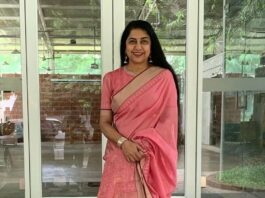 Suhasini Hasan in a pink saree for an event-1