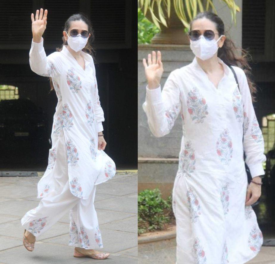 karisma kapooor white kurta set (1)