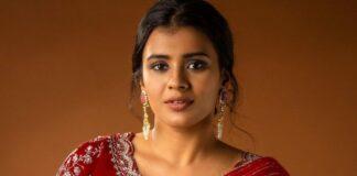 Hebah Patel in red saree by issa studio