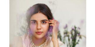 Kalyani Priyadrashan in a white sundari silks saree-2