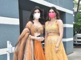 Khushi and Shanaya kapoor at rhea kapoor's wedding-3