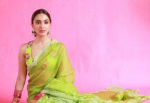 Kiara advani in green saree by Torani for Shershah promotions-2