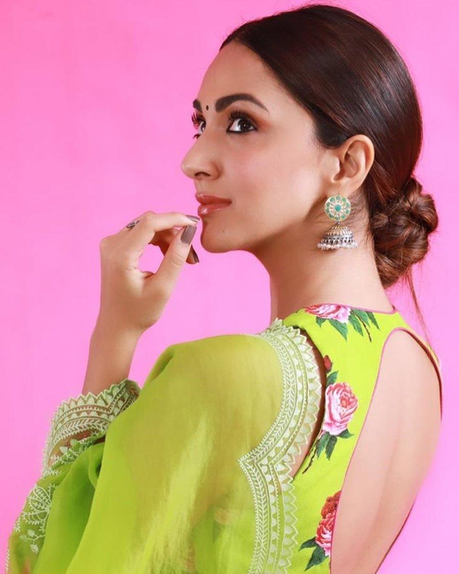Kiara advani in green saree by Torani for Shershah promotions-3