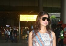 Lakshmi Manchu spotted at the airport in a wrap dress-1