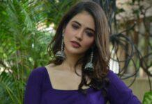 Priyanka jawalkar in a blue anarkali for sr kalyanamandapam movie interview-3