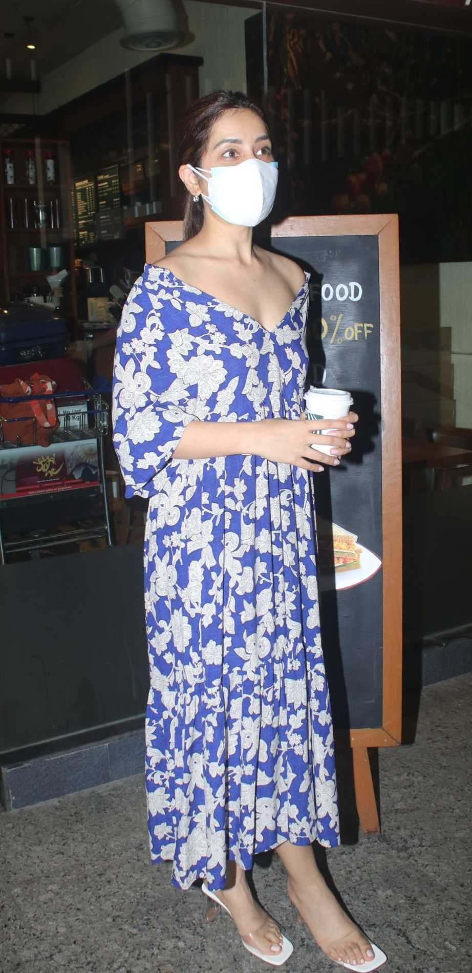 Raashi Khanna in a floral dress in the city-3